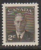 1949 Canada - Sc 285 - MNH VF - 1 single - King George VI Postes-Postage
