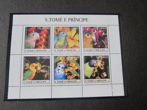 St. Thomas & Prince Islands 2003 Sc 1488 Bird set MNH