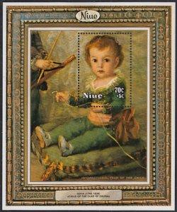 Niue 1979 MH Sc #B9 70c + 5c Child of Duke of Osuna Goya Int'l Year of the Child