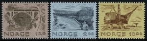 Norway 750-752, MNH. Norwegian Engineering.Bridge,Dam,Oil drilling platform,1979