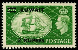 KUWAIT SG90, 2r on 2s 6d Yellow-Green, LH MINT. Cat £25.