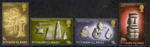 Pitcairn Islands Sc# 119-122 MNH 1971 Polynesian Artifacts