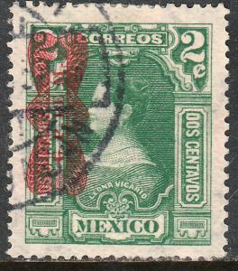 MEXICO 518, 2c, Corbata Revolutionary overprint. Used. F-VF. (777)