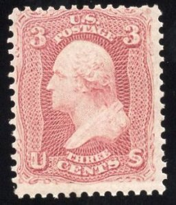 US Stamp Scott #65 Mint OG Previously Hinged SCV $125