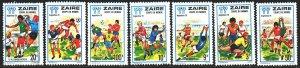 Kinshasa. 1978. 559-65 from the series. Football. MLH.