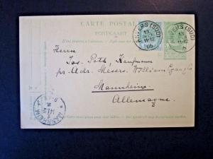 Belgium Uprated 1905 Postal Card to Germany - Z4868