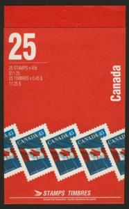 Canada 1361e Booklet BK178Ab MNH Flag, Office Building