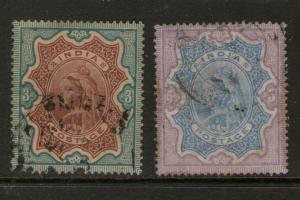 India 1895 SG 108,109 FU