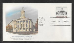 US #1782 American Architecture Fleetwood cachet unaddressed fdc