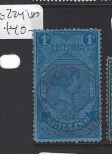 VICTORIA  (P2607B)  1/-   QV     SG 224   VFU