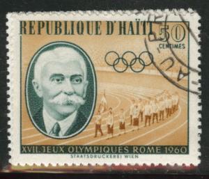 HAITI Scott 464 used 1960 olympic  cto