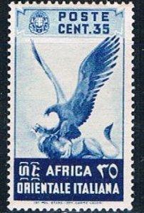 Italian East Africa 9 MLH Eagle and Lion 1938 (MV0069)