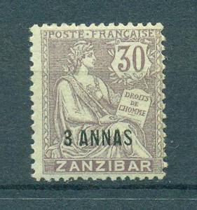 French Offices in Zanzibar sc# 44 mh cat val $14.00