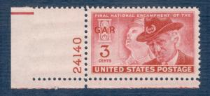 985 Grand Army Of The Republic US Single W/Plate # Mint/nh FREE SHIPPING