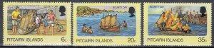 Pitcairn Islands, Sc 174-176, MNH, 1978, Bounty Day
