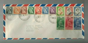 1954 Auckland New Zealand Cover # 288-301 complete set