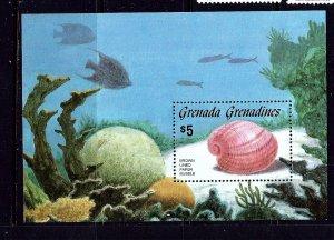 Grenada-Grenadines 771 MNH 1986 Sea Shells S/S
