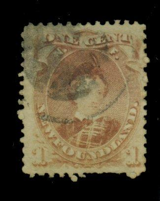 Newfoundland #32A Used F-VF Cpl pulled perfs Cat$75