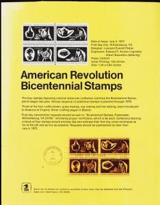 U.S.A. 1972 First Day Sheet. 8c(Block of 4) S.G.1460/1463 Fine Used