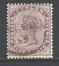 Ceylon Sc # 131 used (RS)