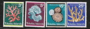 TOKELAU 37-40 MNH COAL SET 1973
