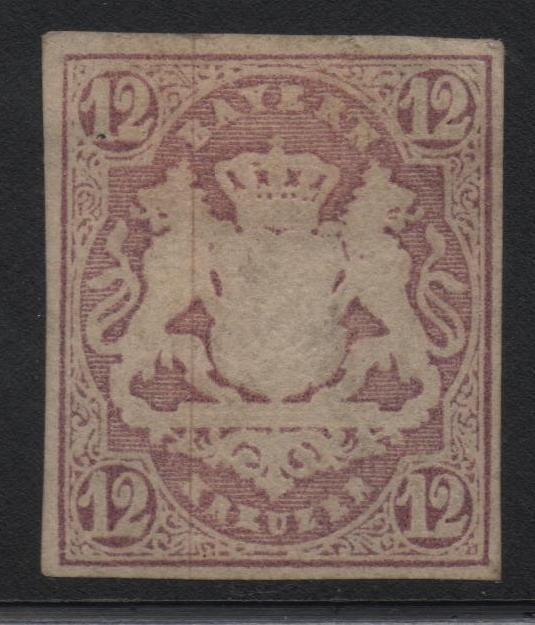 German States Bavaria Scott #21 VF Mint OG Stamp CV $350