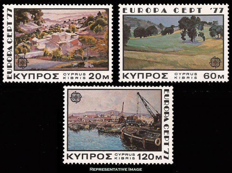 Cyprus MNH 475-7 Europa Paintings 1977