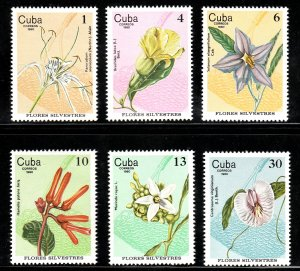 1980 Cuba Stamps Wildflowers Complete Set MNH