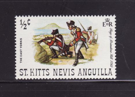 St Kitts-Nevis 245 MNH Military, Soldiers, East Yorks (C)