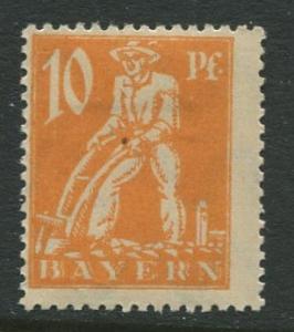 Bavaria -Scott 239 - Ploughman -1920 - MLH - 10pf Stamp