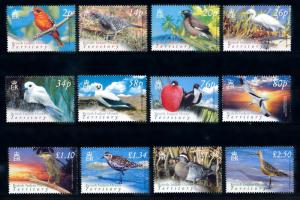 [66819] British Indian Ocean Territory 2004 Birds 12 Values MNH