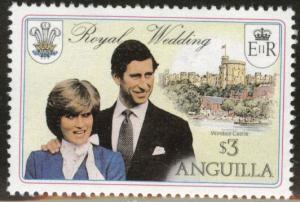 ANGUILLA Scott 446 Windsor Castle Lady Dians set 1981 MNH**