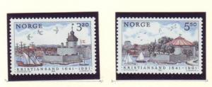 Norway Sc 991-2 1991 Christiansand stamp set mint NH