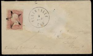 #65 ON SMALL COVER PLAINVILLE, CON. CDS & OUTLINED STAR UNLISTED BQ6402