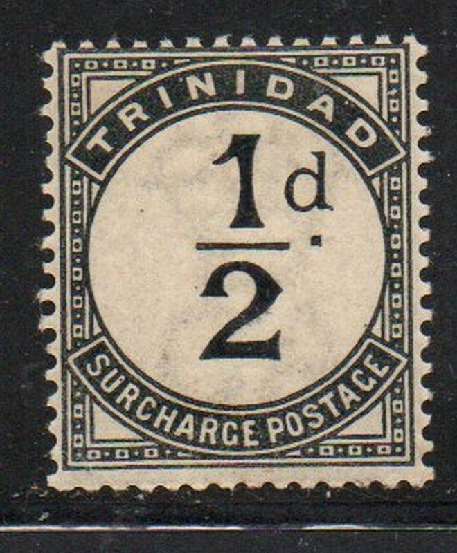 Trinidad Sc J1 1885 1/2d black postage due stamp mint
