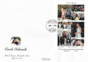 Cook Islands Royal Baby Prince (miniature FDC)