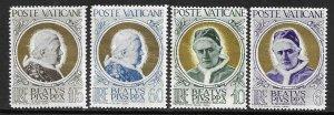 1951   VATICAN CITY  -  SG. 164 / 167  -  POPE  PIUS X  - MNH