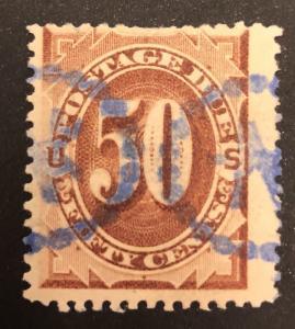 TangStamps US Postage Due J21 Used CV $250 Huge Margin Short Perf