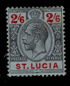 ST. LUCIA GV SG87, 2s 6d black & red/blue, M MINT. Cat £27.