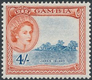 Gambia 1953 4s Grey-Blue & Indian Red SG182 MH
