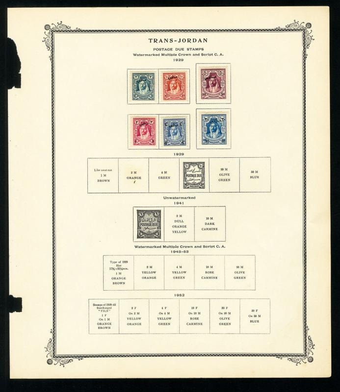 Trans-Jordan 1920s to 1940s Stamp Collection