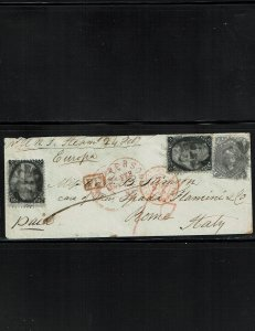 Scott #73 x (2) and 78 Fine used on cover.