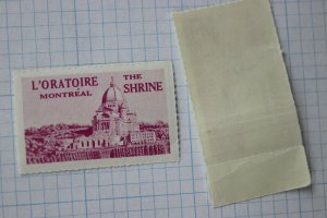 L'Oratoire Shrine Montreal Canada CA charity seal tourism ad poster stamp