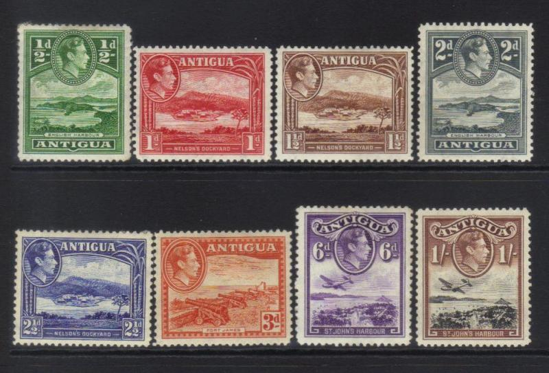 ANTIGUA 1938-1951 DEFINS 8 MH VALUES CAT £25+