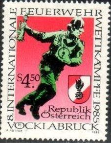Fire Brigades Fireman Emblem Austria Stamp SC1321 MNH HipStamp