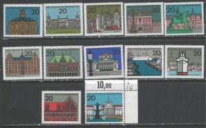GERMANY 869-79A MNH R289
