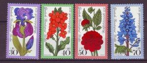 J24953 JLstamps 1976 germany berlin set mnh #9nb128-31 flowers