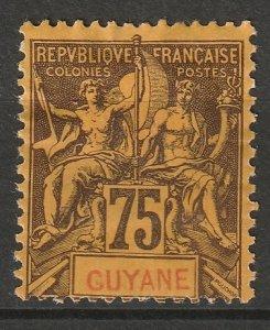 French Guiana 1892 Sc 48 MNG
