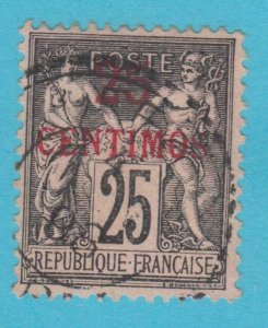 FRENCH MOROCCO 5  USED  NO FAULTS VERY FINE !