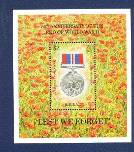 KIRIBATI - Scott 668 - FVF MNH  S/S - WWII medal - 1995